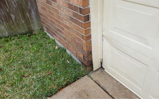 exterior garage door trim wood rot needed a repair